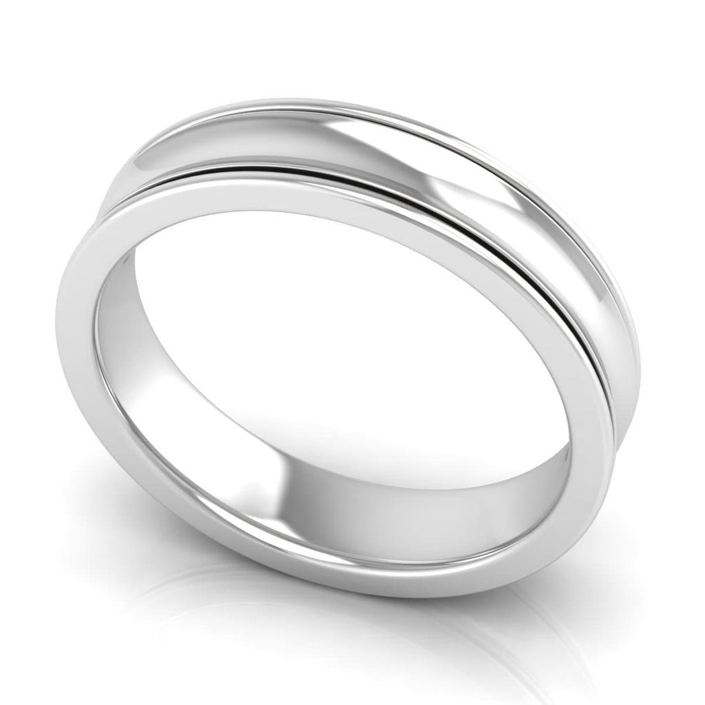 5.0 mm Plain Wedding Band in 14KT, 18KT & Platinum