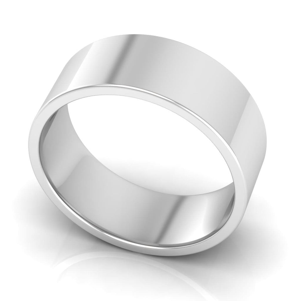 8.0 mm Comfort Fit Plain Wedding Band in 14KT, 18KT & Platinum