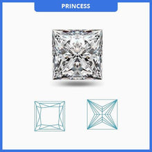 Load image into Gallery viewer, Certified 0.5CT D/SI1 Princess Cut Diamond