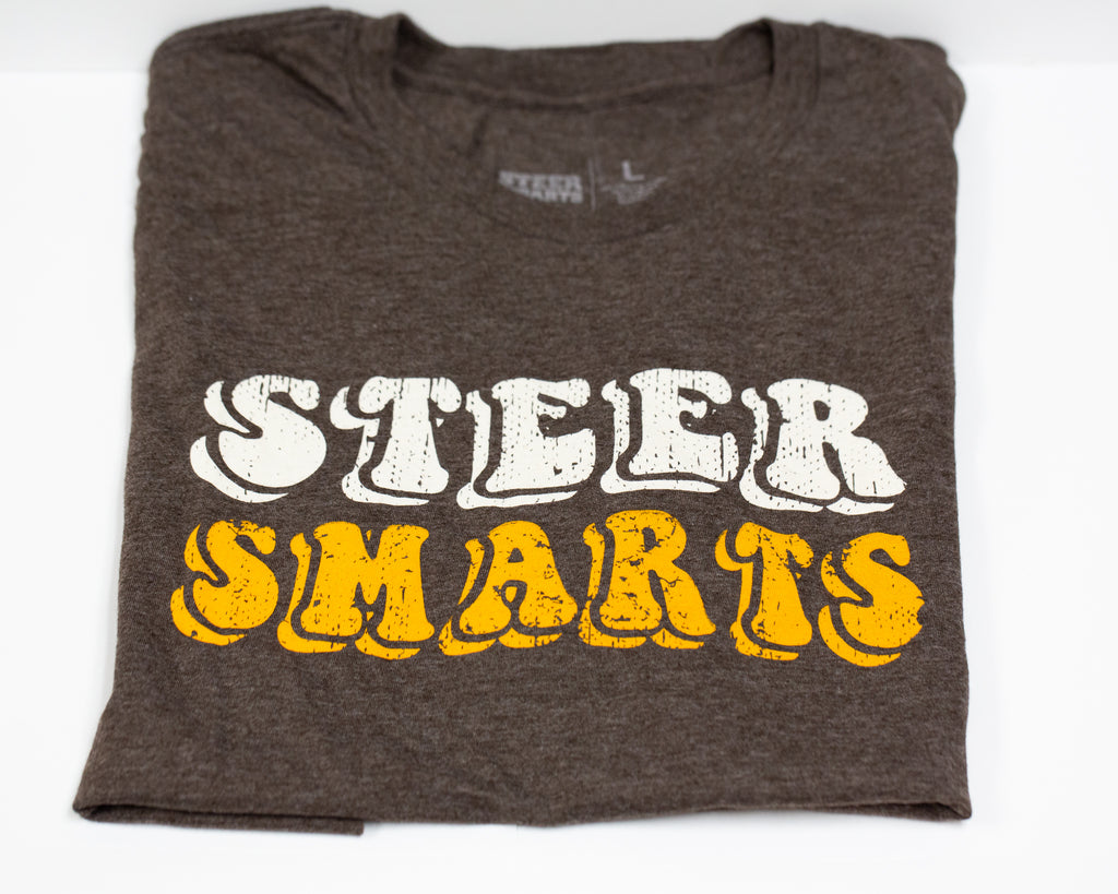 Steer Smarts Retro Logo T-Shirt
