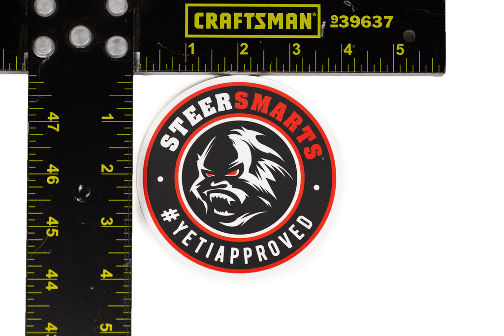 Steer Smarts Yeti Face Sticker 2-Pack