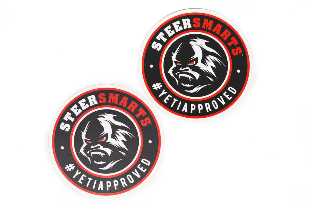 Steer Smarts Yeti Face / Yeti Fist Sticker 4-Pack