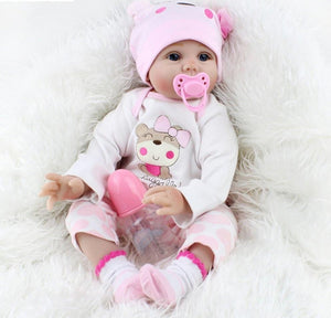 bebe reborn fille yeux ouvert