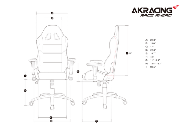 AKRacing EX-Wide - Size