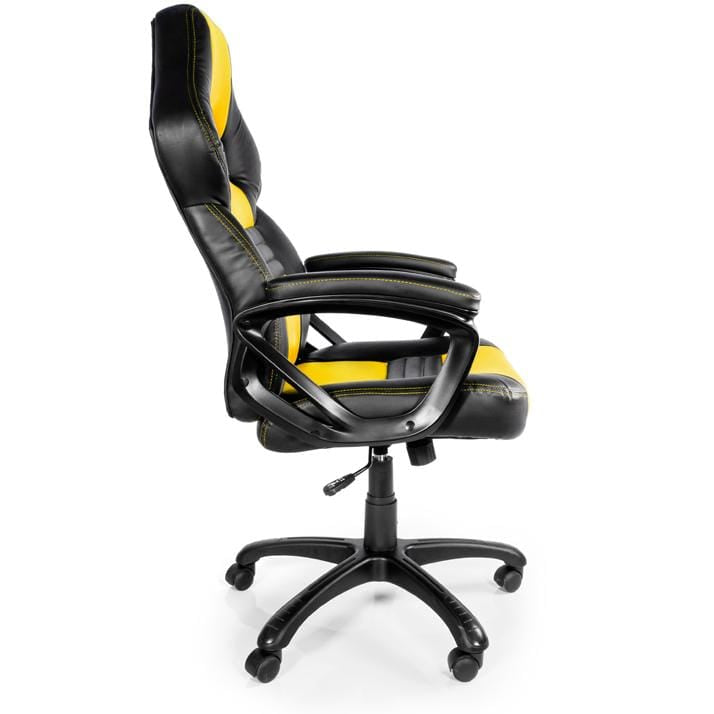 Arozzi Monza Yellow - Padded Armrests