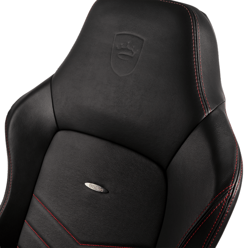 Noblechairs HERO Leather Red - Logo