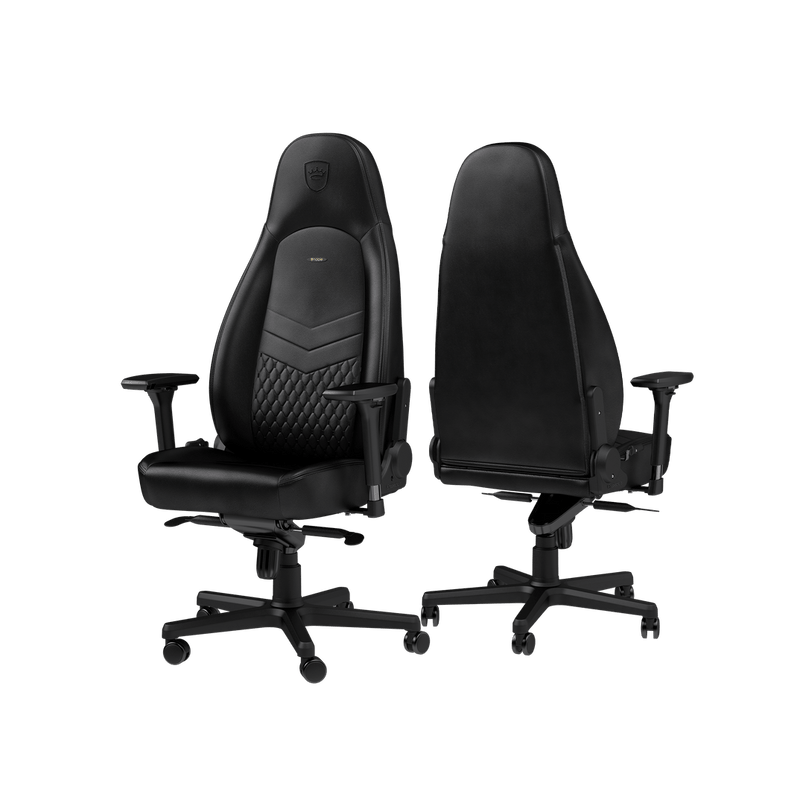 Noblechairs ICON Leather Black - Back