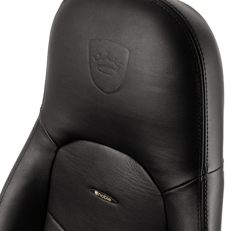 Noblechairs ICON Leather Black - Logo