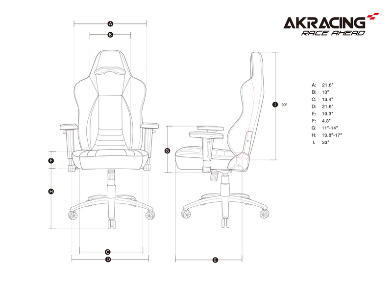 AKRacing Obsidian - Size