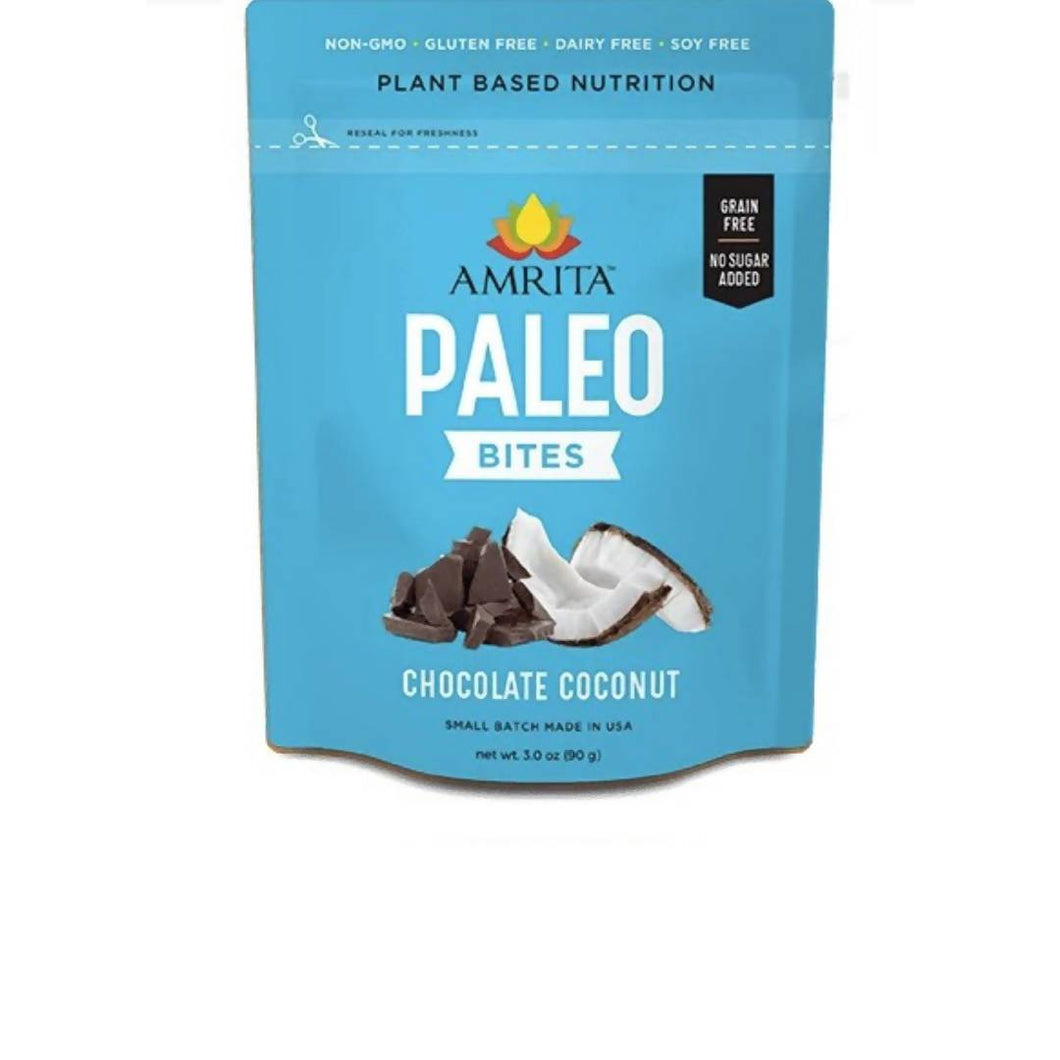 Farm2Me - pantry - Amrita Health Foods - Chocolate Chip Coconut Paleo Bites - 3 x 3 oz - Chocolate Chip Coconut Paleo Bites - 3 x 3 oz -