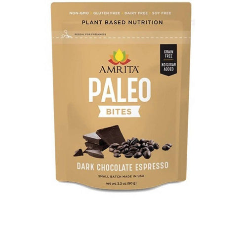 Farm2Me - pantry - Amrita Health Foods - Dark Chocolate Espresso Paleo Bites - 3 x 3oz Packs - Dark Chocolate Espresso Paleo Bites - 3 x 3oz Packs -