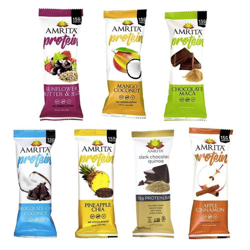 Farm2Me - pantry - Amrita Health Foods - High Protein Bar Variety Pack - 12 x 2.12 oz - High Protein Bar Variety Pack - 12 x 2.12 oz -