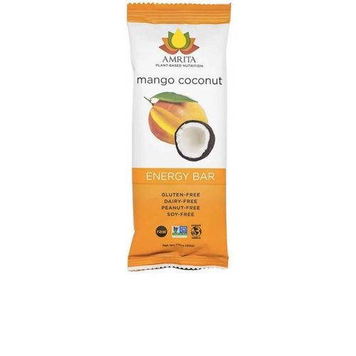 Farm2Me - pantry - Amrita Health Foods - Mango Coconut Superfood Snack Bars - 12 x 1.8 oz - Mango Coconut Superfood Snack Bars - 12 x 1.8 oz -