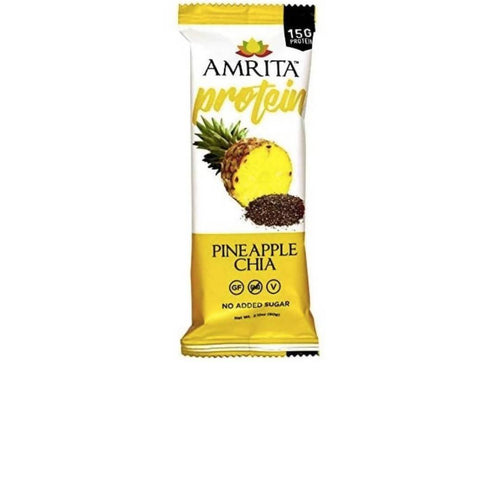 Farm2Me - pantry - Amrita Health Foods - Pineapple Chia High Protein Bar - 12 x 2.12 oz - Pineapple Chia High Protein Bar - 12 x 2.12 oz -