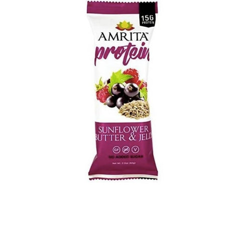 Farm2Me - pantry - Amrita Health Foods - Sunflower Butter & Jelly High Protein Bar - 12 x 2.12 oz - Sunflower Butter & Jelly High Protein Bar - 12 x 2.12 oz -