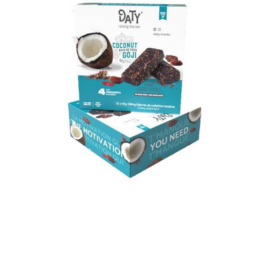 Farm2Me - Snacks - Daty-Snacks - Coconut & Goji Date Bar - 576 x 47g - Coconut & Goji Date Bar - 576 x 47g -