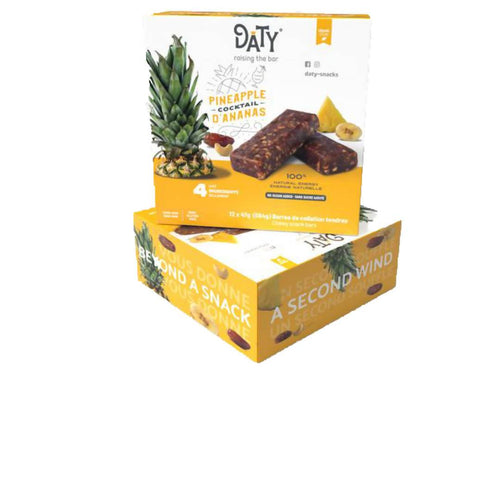 Farm2Me - Snacks - Daty-Snacks - Pineapple Cocktail Date Bar - 12 x 47g - Pineapple Cocktail Date Bar - 12 x 47g -