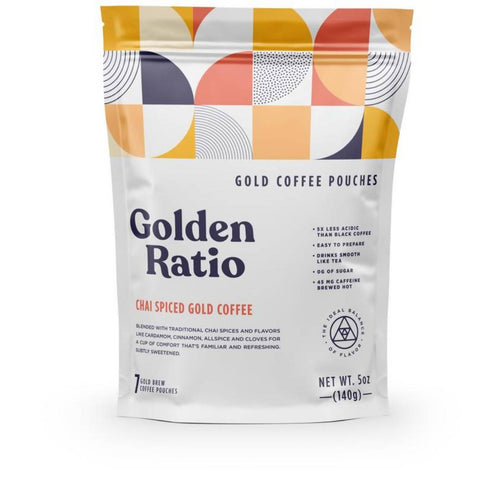 Farm2Me - Beverage - Golden Ratio Coffee - Chai Spiced Gold Coffee Pouch - 6 pouches x 7-pack - Chai Spiced Gold Coffee Pouch - 6 pouches x 7-pack -