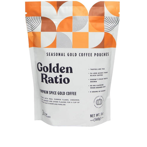 Farm2Me - Beverage - Golden Ratio Coffee - Pumpkin Spice Gold Coffee Seasonal Pouch - 6 pouches x 7-pack - Pumpkin Spice Gold Coffee Seasonal Pouch - 6 pouches x 7-pack -