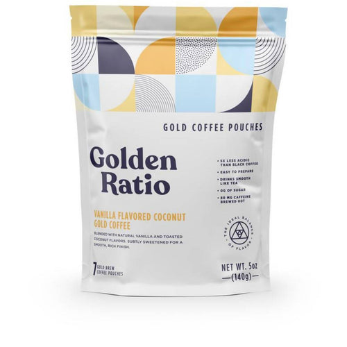 Farm2Me - Beverage - Golden Ratio Coffee - Vanilla Coconut Gold Coffee Pouch - 6 pouches x 7-pack - Vanilla Coconut Gold Coffee Pouch - 6 pouches x 7-pack -