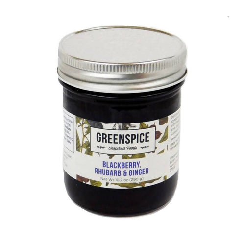 Farm2Me - Pantry - GREENSPICE Inspired Foods - Blackberry, Rhubarb & Ginger Spread - 6 x 10.2oz - Blackberry, Rhubarb & Ginger Spread - 6 x 10.2oz - GS00001