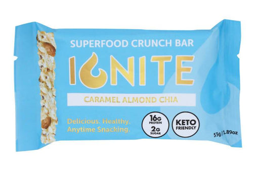 Farm2Me - Snack - Ignite Bars - Caramel Almond Chia Bars - 12 x 1.89 oz - Caramel Almond Chia Bars - 12 x 1.89 oz - 860004700029