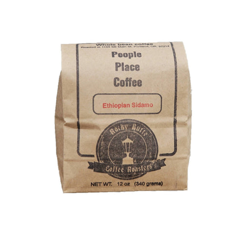 Farm2Me - beverage - Rocky Butte Coffee Roasters - Ethiopia Sidamo Coffee Beans (Light Roast) Bags - 12 OZ x 10 - Ethiopia Sidamo Coffee Beans (Light Roast) Bags - 12 OZ x 10 -