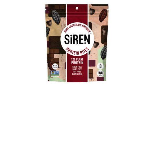 Farm2Me - Snacks - Siren Snacks - Dark Chocolate Brownie Protein Bite Pouches - 10 x 1.7oz - Dark Chocolate Brownie Protein Bite Pouches - 10 x 1.7oz -