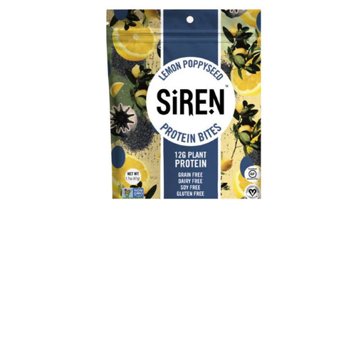 Farm2Me - Snacks - Siren Snacks - Lemon Poppyseed Protein Bite Pouches - 10 x 1.7oz - Lemon Poppyseed Protein Bite Pouches - 10 x 1.7oz -