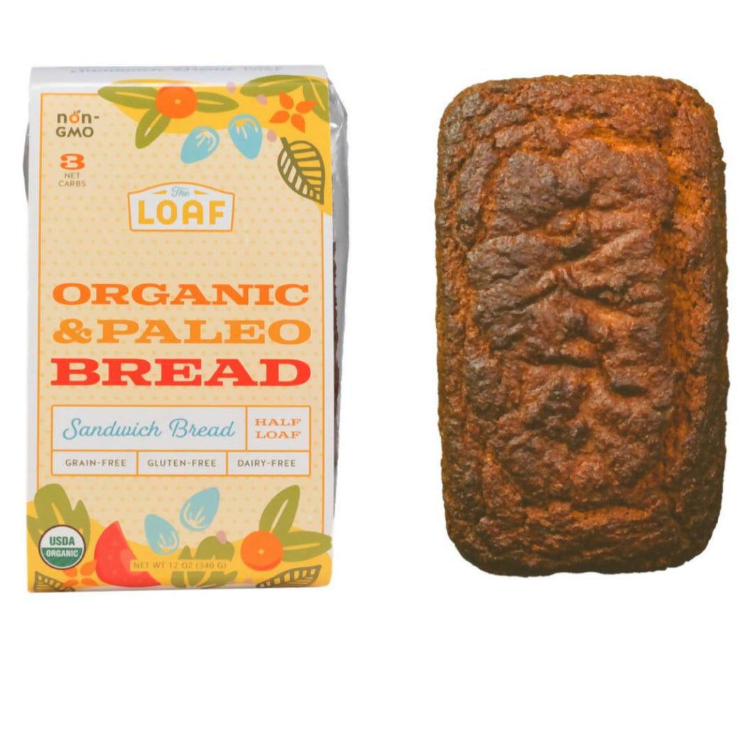 Farm2Me - Bakery - The Loaf - Organic & Paleo Sandwich Bread (Half Loaf) - 6 x 12oz - Organic & Paleo Sandwich Bread (Half Loaf) - 6 x 12oz - 644216382576