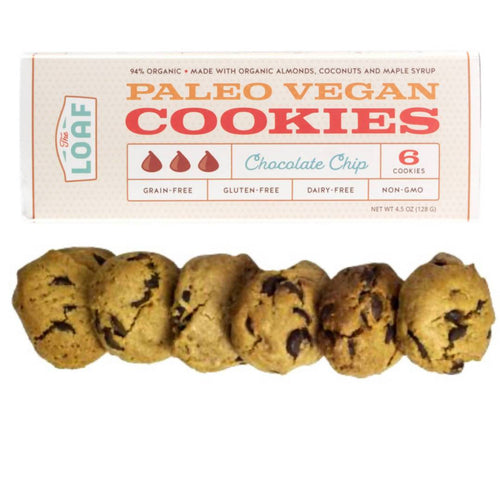 Farm2Me - Bakery - The Loaf - Organic Paleo Vegan Chocolate Chip Cookies Box - 6 box x 4.5oz - Organic Paleo Vegan Chocolate Chip Cookies Box - 6 box x 4.5oz - 644216382477