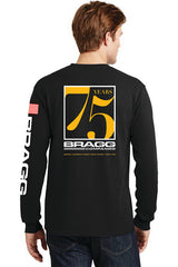 Bragg - 75th Anniversary Men's Long Sleeve Pocket T-Shirt