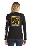 Bragg - 75th Anniversary District Women's Long Sleeve V-Neck Tee