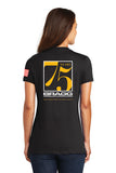 Bragg - 75th Anniversary District Women's Short Sleeve V-Neck Tee