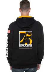 Bragg - 75th Anniversary Black/Gold Contrast Hoodie