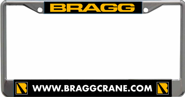 Bragg Laser Cut License Plate Frame