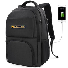 Bragg Laptop Backpack with USB Charging Port Fits 15.6 Inch Laptop