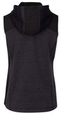 BRAGG Women's Hooded Sweater Fleece Vest
