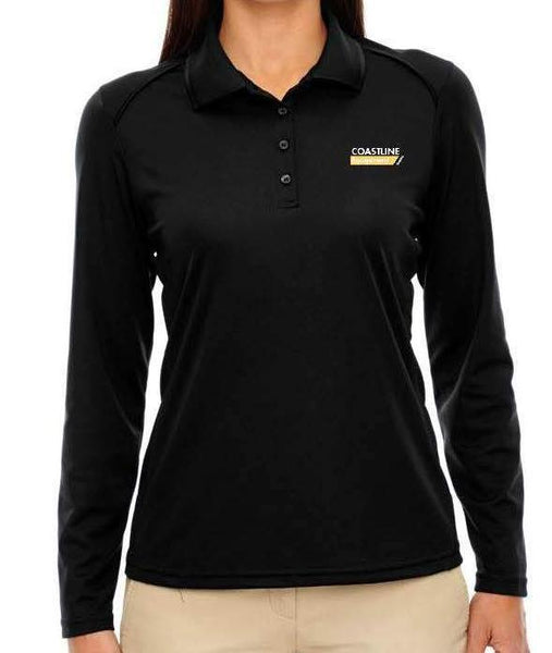 Coastline Women's Long Sleeve Performance Polo