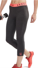 Bragg Under Armour Yoga Capri Leggings CHARCOAL/PINK TRIM