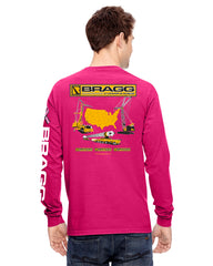 Bragg - Breast Cancer Awareness Month Pink Pocket Tee - Men's Long Sleeve