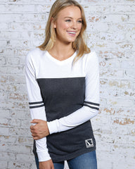 Bragg - Women's Long Sleeve Varsity Tee