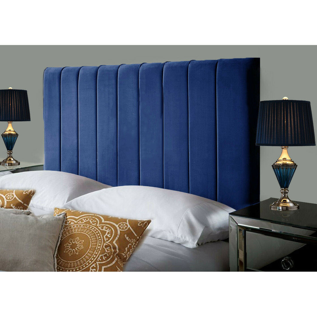 Plush Velvet Headboard - Blue
