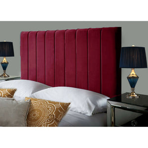 Plush Velvet Headboard - Burgundy