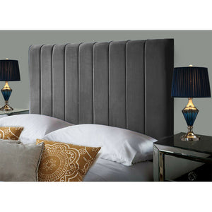Plush Velvet Headboard - Steel Grey