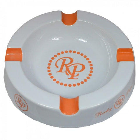Rocky Patel ORG/WHT 4 Finger Round Ashtray