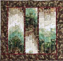 Load image into Gallery viewer, Bargello Batik Quilted Wall Hanging