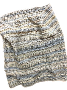 Hand Knit Cowl in Shades of Precious Metals