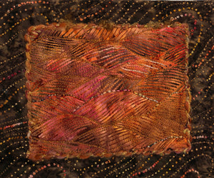 Batik Wall Art - Oranges and Browns