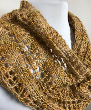 Load image into Gallery viewer, Lace Cowl - Hand Knit in Shades of Gold